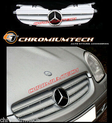 SILVER/ CHROME GRILL for 97-04 Mercedes SLK R170 CL LOOK AMG SLK32 SLK200 SLK320