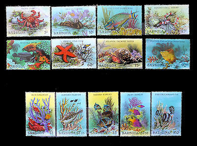 BARBUDA 1987 Marine Life Complete Set to $10 (13) SUPERB Unmounted Mint FP120