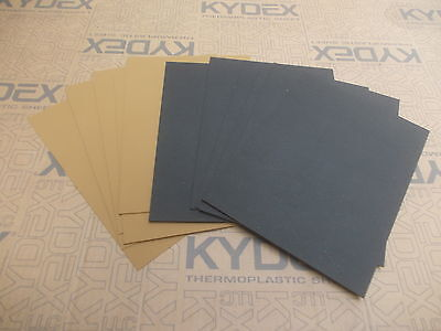 11 Pack 2 mm A4 KYDEX T Sheet 297 x 210 6 x Black 5 xCoyote Brown.Holster-Sheath