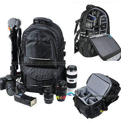 Deluxe Shockproof DSLR Camera Backpack Travel Bag Case For Nikon Canon EOS Sony