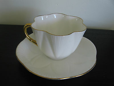 Shelley Regency White Gold Cup & Saucer