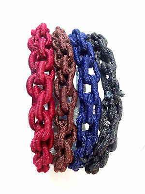 WHOLESALE JOBLOT LADIES STRINGY/CHAIN HAIR SCRUNCHIES colourful assorted  (BL9)