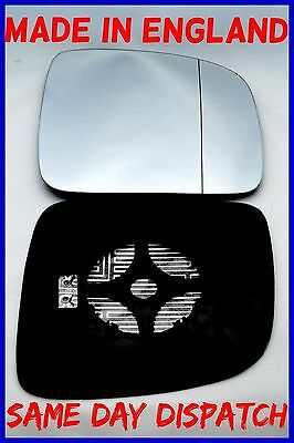 Vw Mk5 Transporter T30 2003-2009 Wing Mirror Glass Wide Angle Heated Right