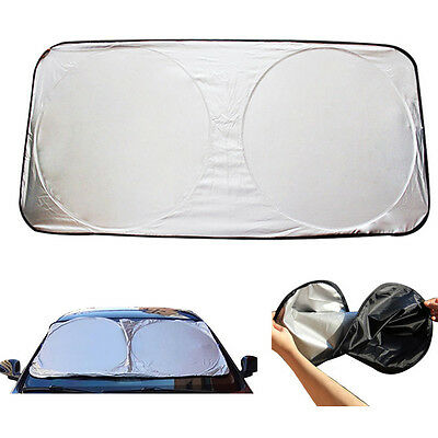 Folding Large Front Rear Car Window Sun Shade Windshield Auto Visor Block Cover