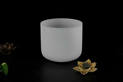 7Inch Frosted Note B Crown Chakra Quartz Crystal Singing Bowl