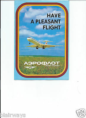 AEROFLOT SOVIET AIRLINES PLEASANT FLIGHT BROCHURE IL-62M-TU-154-TU-134 MOSCOW