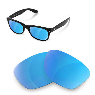 Polarized  Replacement Lenses for rayban new wayfarer 2132-52 ice blue