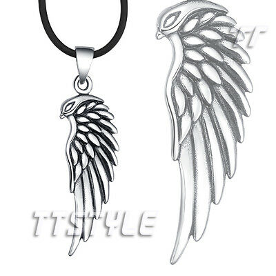 TT 316L Stainless Steel Bird Angel Wing Pendant Necklace Mens & Womens NEW NP256