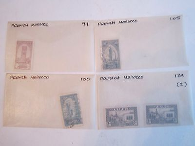 Early French Morocco Stamps - Sc# 91 - 141 - & Back Of Book -Mint & Used - Bb-2
