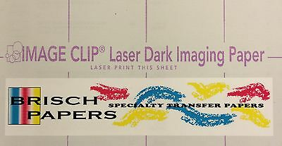 "Laser Dark Transfer Neenah ""image Clip Dark"" (New Version) (8.5""x11"") (25 Sets)"
