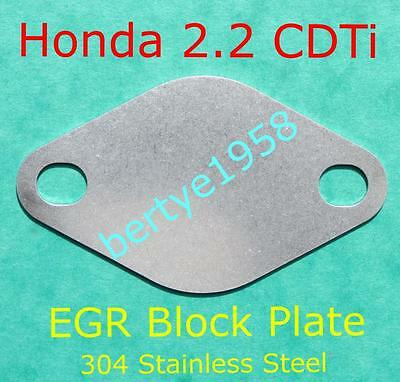 EGR valve blanking plate Honda 2.2 CDTi The EGR Must be mapped out or limp mode