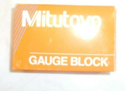"Mitutoyo Steel Rectangular Gage Block, ASME Grade AS-1, 0.1006"" Length"