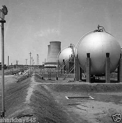 8 by 10 inch photo reprint of 1958 image Oil Refinery at Kirkuk Iraq