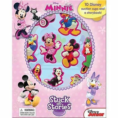 Brand New Disney Minnie Mouse Stuck on Stories Book  Charcters story Free Post
