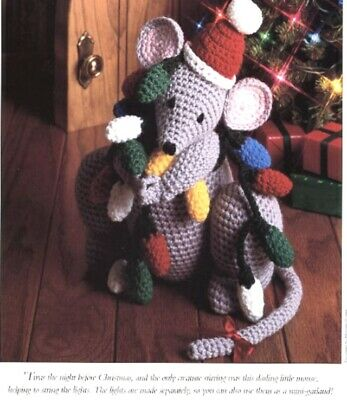Santas Helper Mouse Garland Vanna Crochet Christmas Patterninstructions New