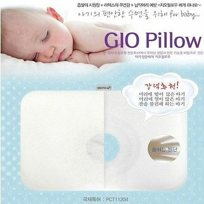 GIO Baby Pillow Head Shape Cooling  Funtional Pillows NWT S,M,L Made in Korea