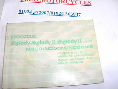 Honda  Melody/melody 11 & Deluxe   Owners Manual