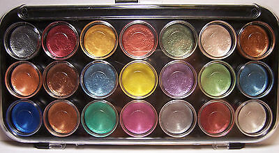 21 Color Pearlescent Metallic Watercolor Paint Set  Add Shimmer Dimension to Art