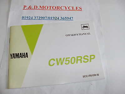 Yamaha Cw50Rsp Bee Whizz Owners Manual