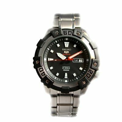 Seiko Series 5 Automatic Black Dial Stainless Steel Mens Watch SRP471
