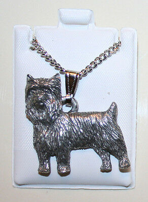 Yorkshire Terrier Yorkie Puppy Fine Pewter Pendant w Chain Necklace USA Made