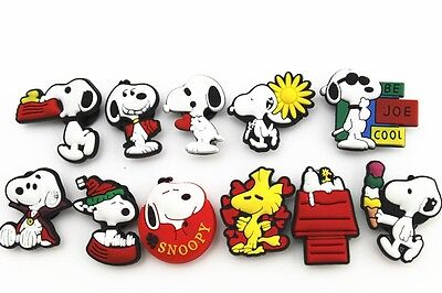 11pcs Snoopy Baby Shoe Charms for Fits Croc Shoes Kid Gifts party