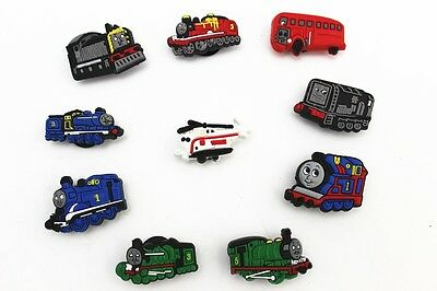 10pcs Thomas the Tank Engine Shoe Charms for Fits Croc Shoes & Wristband