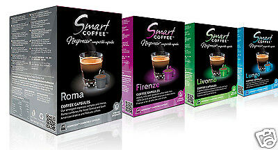 40 Nespresso Espresso Capsules Compatible Smart Coffee - Variety Pack, 4 Blends