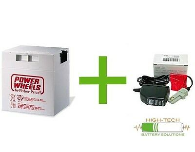 Fisher-Price Power Wheels 12 v Grey Battery and Charger Kit - 00801-0638