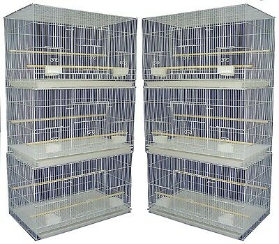 Lot of 6 Aviary Breeding Flight/Bird/Guinea Pig  Cages 24x16x16, White Color