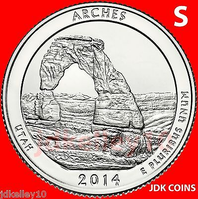 2014 S - Arches National Park - Utah - Quarter Uncirculated From Us Mint