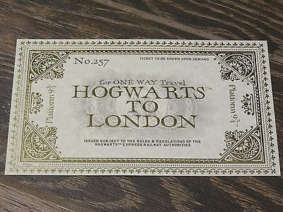 NEW Universal Wizarding World of Harry Potter Ticket Hogwarts to London 9 3/4