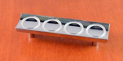 "Mid-Century KBC N-5732 Chrome SILVER Circle Cabinet Pull Holes 3"" Apart RETRO"