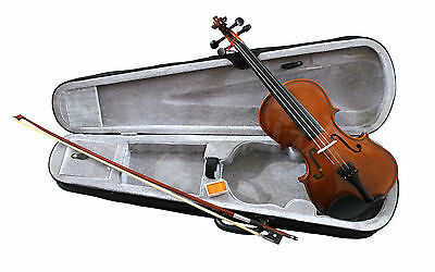 New Natural Violin Beginner Student Pack Package Outfit With Case, Bow and Rosin
