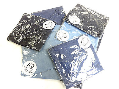 Wholesale Job Lot Ladies Denim Head Scarfs Unique Afro New Retro (Bl3)