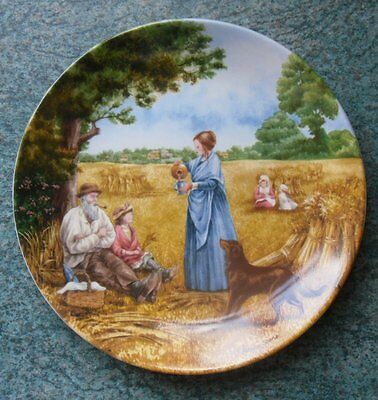 """Wedgwood 'Harvest Supper' Village Green Collectors Plate - 8"""" Dia. - VGC"""