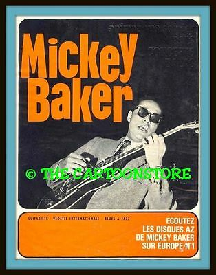 """MICKEY BAKER, FRENCH POSTER - MINI-POSTER PRINT 7"""" x 5"""""""
