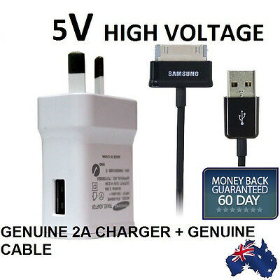 GENUINE Samsung Galaxy Tab 2 P3100 P3110 7.0 Inch Tablet Wall Charger + Cable