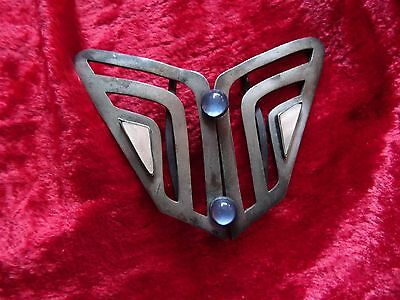 Antique silver ? ART NOUVEAU ART DECO MARKED 9 S 9  belt buckle RARE BUTTERFLY