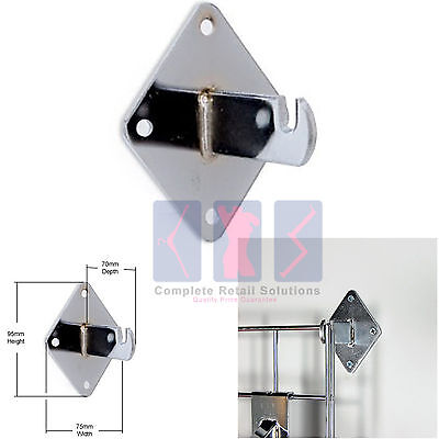 Gridwall/ Grid Wall Mesh Chrome Shop Display Panel - Accessory: Wall Bracket