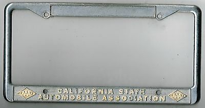 RARE California State Automobile Association AAA Vintage License Plate Frame