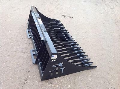 "Brand New American Made Tomahawk 72"" Rock Bucket For Skid Steer Loaders"