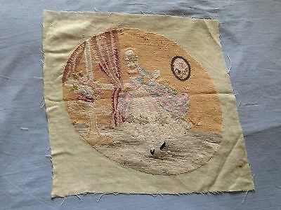 Beautiful Vintage Hand-Embroidered Tapestry