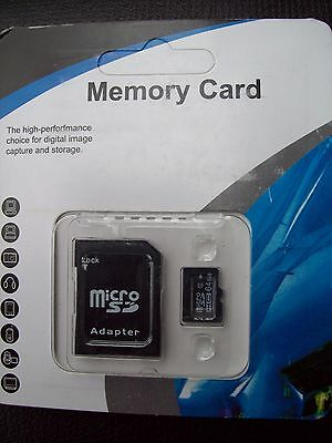64 GB MICRO CLASS 10 FLASH MEMORY CARD WITH SDHC ADAPTER  U.S.A. SELLER