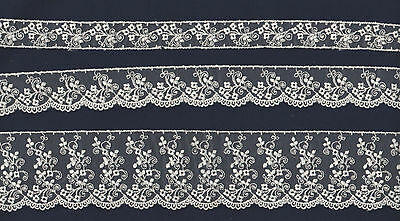 Embroidered net lace Beautiful design in 3 widths , Baby, Wedding, Dolls
