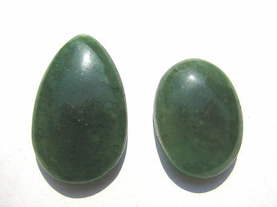 Lot Aventurin Cabochon 27,7+35,4 mm 77 ct. U9931