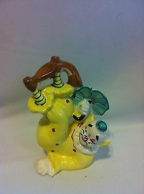 Yona Collectible Clown Signed And Dated Original 1956