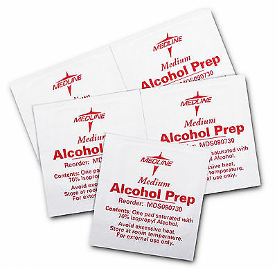 Medline Sterile Alcohol Prep Pad box wipes topical antiseptic swabs Case medical