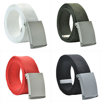 New Men Canvas Webbing Belt Military Style Brand Metal Buckle Christmas Gift PW