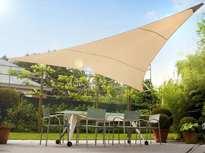 Triangle Square Shade Sail Sun UV Protection Garden Canopy Patio Waterproof